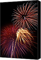 July Canvas Prints - Fireworks Wixom 3 Canvas Print by Michael Peychich
