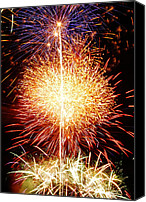 4th July Canvas Prints - Fireworks_1591 Canvas Print by Michael Peychich