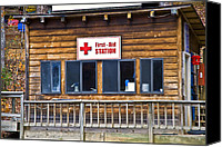 Susan Leggett Canvas Prints - First Aid Station Canvas Print by Susan Leggett