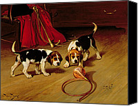 Beagle Canvas Prints - First Introduction Canvas Print by Wright Barker