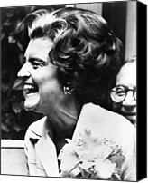First Ladies Canvas Prints - First Lady Betty Ford's Campaigning Canvas Print by Everett