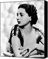 1930s Hairstyles Canvas Prints - First Lady, Kay Francis, 1937 Canvas Print by Everett