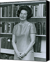 Hostess Canvas Prints - First Lady, Lady Bird Johnson, In 1964 Canvas Print by Everett