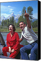 Hostess Canvas Prints - First Lady, Lady Bird Johnson, Rafting Canvas Print by Everett