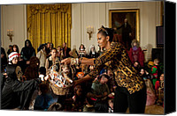 First Ladies Canvas Prints - First Lady Michelle Obama Hands Canvas Print by Everett