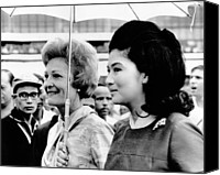 First Ladies Canvas Prints - First Lady Pat Nixon Left And Imelda Canvas Print by Everett