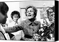 First Ladies Canvas Prints - First Lady Pat Nixon Visiting Detroit Canvas Print by Everett