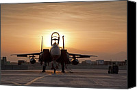 Afghanistan Canvas Prints - First Light on a Fighter Canvas Print by Tim Grams