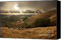 Northern California Canvas Prints - First Rain Canvas Print by Matt Tilghman
