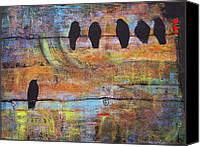 Black Birds Canvas Prints - First Step is the Dream Canvas Print by Blenda Tyvoll
