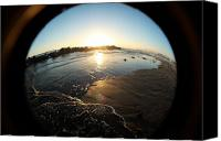 Allie Smith Canvas Prints - Fish Eye Sunset Canvas Print by Allie Smith