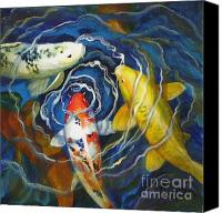 Goldfish Canvas Prints - Fish Soup Canvas Print by Pat Burns