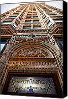 Daniel Canvas Prints - Fisher Building Chicago Canvas Print by Steve Gadomski