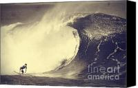 Surfers Canvas Prints - Fisher Heverly at Pipeline Canvas Print by Paul Topp
