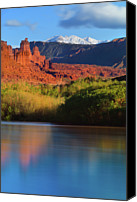 Fisher Canvas Prints - Fisher Towers Canvas Print by Proframe Photography