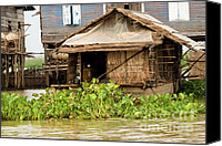 Sap Canvas Prints - Fisherman Boat House Canvas Print by Artur Bogacki