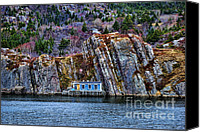Cabin Window Canvas Prints - Fisherman cabin Canvas Print by Claude Gariepy