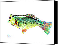 Largemouth Bass Canvas Prints - Fishermans Delight Canvas Print by Kip DeVore