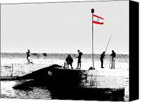 Abstract Photo Canvas Prints - Fishermen in Beirut Canvas Print by Funkpix Photo  Hunter