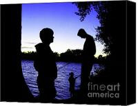 Buddies Canvas Prints - Fishin Buddies Canvas Print by Terril Heilman