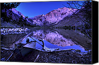 Sierra Canvas Prints - Fishing at Convict Lake Canvas Print by Sean Foster