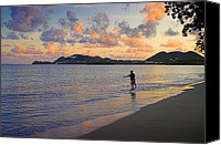 Williams Canvas Prints - Fishing at Dawn- St Lucia Canvas Print by Chester Williams