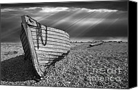 Rowboat Canvas Prints - Fishing Boat Graveyard 2 Canvas Print by Meirion Matthias
