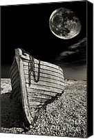 Pebbles Canvas Prints - Fishing Boat Graveyard 3 Canvas Print by Meirion Matthias