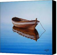 Row Canvas Prints - Fishing Boat I Canvas Print by Horacio Cardozo