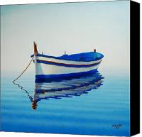 Row Canvas Prints - Fishing Boat II Canvas Print by Horacio Cardozo