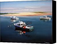 Paul Walsh Canvas Prints - Fishing Boats-cape Cod Canvas Print by Paul Walsh