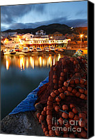 Azoren Canvas Prints - Fishing harbour at dusk Canvas Print by Gaspar Avila