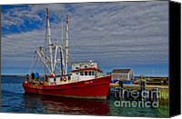 Cape Cod Scenery Canvas Prints - Fishing Troller Canvas Print by Susan Candelario