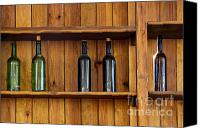 Five Canvas Prints - Five Bottles Canvas Print by Carlos Caetano