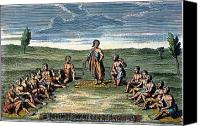 Pow Wow Canvas Prints - FIVE NATIONS: MEETING, c1570 Canvas Print by Granger