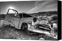 Rusted Cars Canvas Prints - Fixer Upper Canvas Print by Bob Christopher