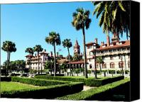 Florida Mixed Media Canvas Prints - Flagler College Canvas Print by Addison Fitzgerald
