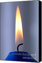 Burning Candles Canvas Prints - Flame of a burning candle Canvas Print by Matthias Hauser