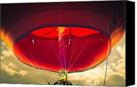 Heat Canvas Prints - Flame On Hot Air Balloon Canvas Print by Bob Orsillo