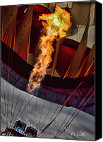 Balloon Festival Canvas Prints - Flame On Two Canvas Print by Bob Orsillo