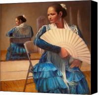 Dancer Painting Canvas Prints - Flamenco 1 Canvas Print by Donelli  DiMaria