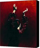 Dance Canvas Prints - Flamenco Fire Canvas Print by Richard Young