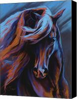Equine Pastels Canvas Prints - Flamenco Canvas Print by Kim McElroy
