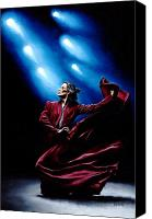 Stretched Canvas Prints - Flamenco Performance Canvas Print by Richard Young