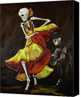 Dia De Los Muertos Canvas Prints - Flamenco VI Canvas Print by Sharon Sieben