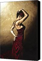 Dancer Painting Canvas Prints - Flamenco Woman Canvas Print by Richard Young