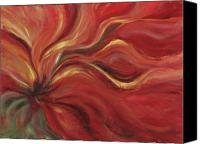 Abstract Flower Canvas Prints - Flaming Flower Canvas Print by Nadine Rippelmeyer