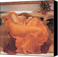 Flaming June Canvas Prints - Flaming June - 1895 Canvas Print by Lord Frederic Leighton