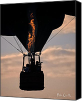 Balloon Festival Canvas Prints - Flaming Silhouette  Canvas Print by Bob Orsillo