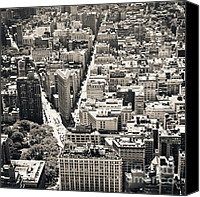 Empire Photo Canvas Prints - Flatiron Building - New York City Canvas Print by Thomas Richter